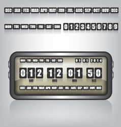 Countdown timer and date vector