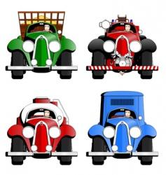 cartoon trucks vector image