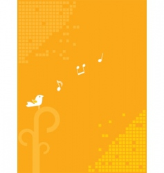 bird and music background vector image
