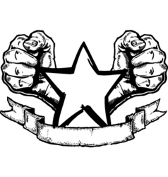fists banner vector image