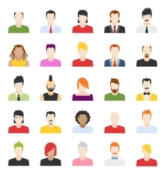 Design of people avatars vector