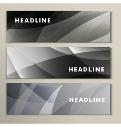 Set gray and white abstract bright pictures vector