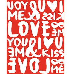 I love seamless pattern brush and ink calligraphy vector