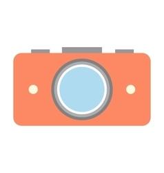 Nice camera flat icon vector