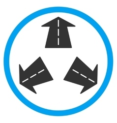 Road directions rounded icon vector