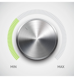 Chrome volume knob vector