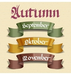 Autumn months september october november vector