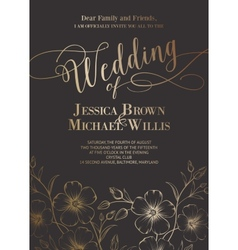 Awesome wedding invitation vector