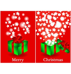Before and after gift Christmas card vector image