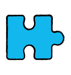 Blue piece puzzle mental game vector