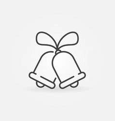 christmas bells icon or symbol in thin line vector image