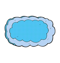Comic cartoon cloud symbol vector