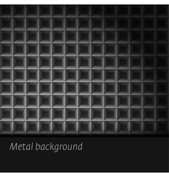 Dark metal background vector image vector image