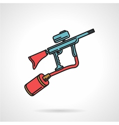 Flat color icon for paintball gun vector