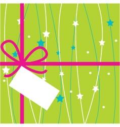 gift tag vector image