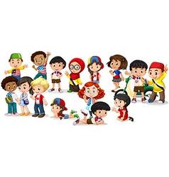 Group of international children vector