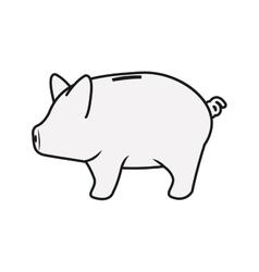 Isolated money piggy design vector image