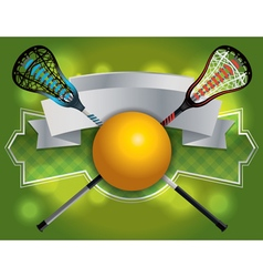 Lacrosse label banner vector