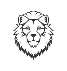 Lion Head Logo on White Background vector image vector image