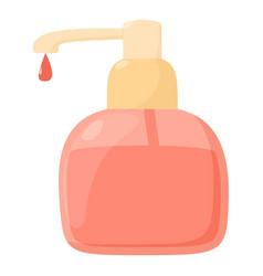 Liquid soap icon cartoon style vector
