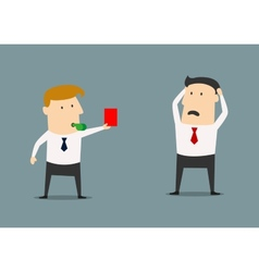 Manager showing a red card vector