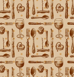 pattern with cutlery vector image