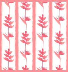 Pinktropic flowers seamless pattern vector