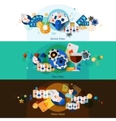 Poker banners set vector image vector image