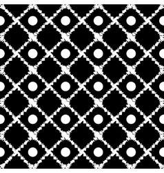 Polka dot and square seamless pattern vector image