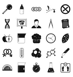 Scientific research icons set simple style vector