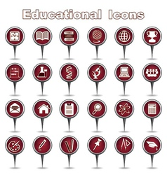 Set of educational icons vector