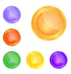 smooth glass web buttons vector image