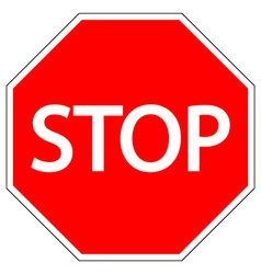 Stop road sign vector image