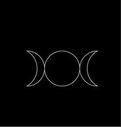 Triple goddess- neopaganism vector