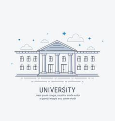 university building vector image