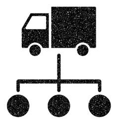 Van distribution scheme grainy texture icon vector