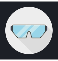 Glasses over circle icon security instrument vector