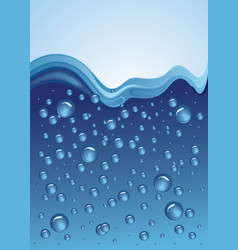 water wave with bubbles vector image