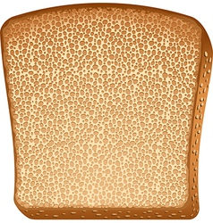 A piece of toast vector image