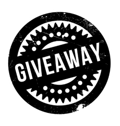 Giveaway rubber stamp vector