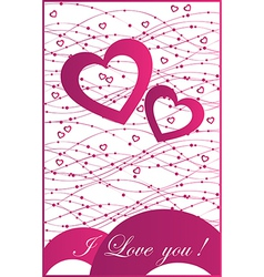 abstract for design with hearts vector image