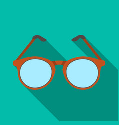 glasses for sightold age single icon in flat vector image
