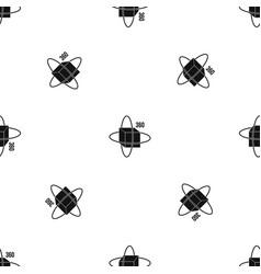 virtual cube pattern seamless black vector image
