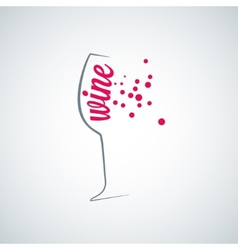 Wine glass splash menu background vector