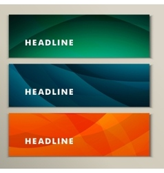 Set abstract bright pictures of green orange blue vector