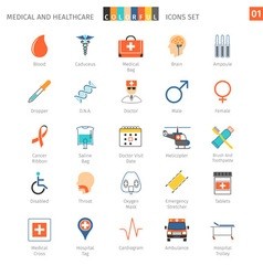 Medical colorful icons set 01 vector