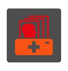 Patient catalog flat button vector