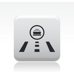 navy road icon vector image