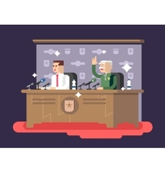 Conference design concept vector