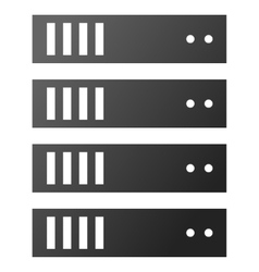 Server rack gradient icon vector
